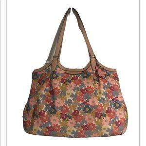 Coach floral canvas shoulder bag